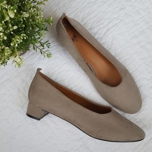 H&M Faux Suede Rounded Toe Pumps